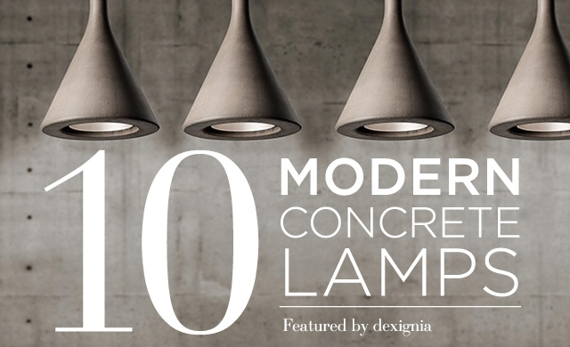 Concrete Lamp Collection